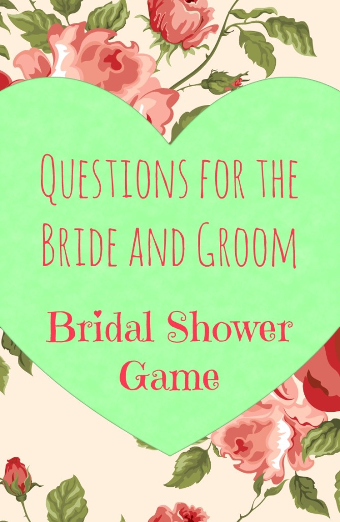 pin it on pinterest living in retrospect questions for the bride and groom bridal shower tweet