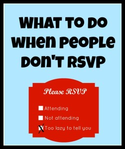 People Don't RSVP