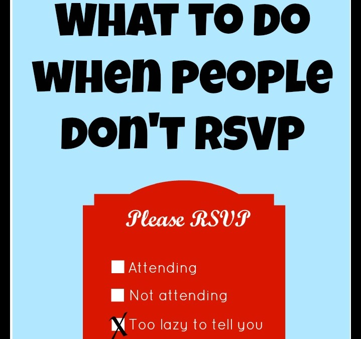 People Don't RSVP – Save Your Phone Minutes: Broke Bride