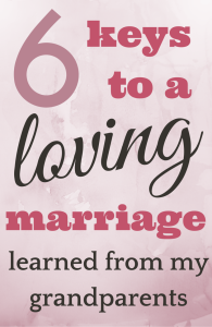 6 Keys to a Loving Marriage I Learned from my Grandparents. They were married just a few months shy of 50 years before my grandma passed away. This is what they taught me about love.