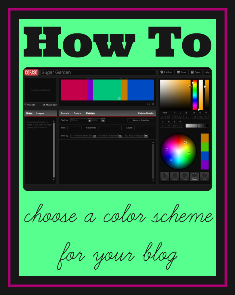 how to choose a color scheme for your blog