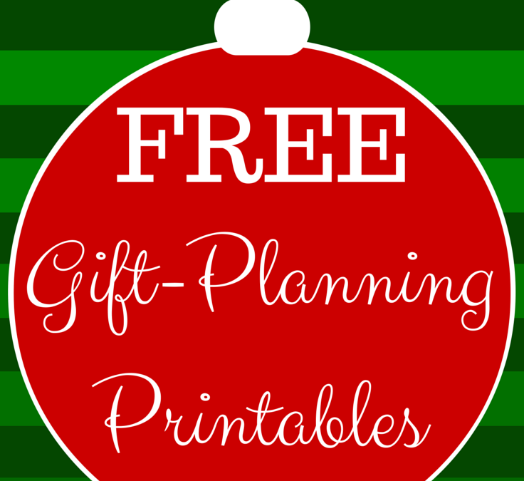 Free Gift Planning Printables – Organized Gift Giving – Free Christmas Shopping Printables