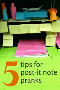 5 tips for decorating with post-it notes | 5 tips for post-it note pranks