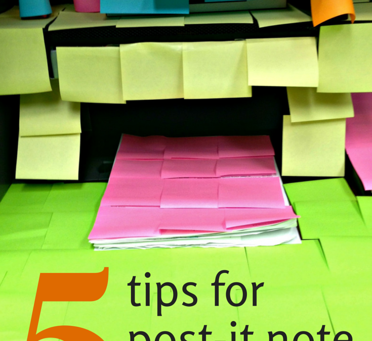 How to Decorate an Office with Post-It Notes