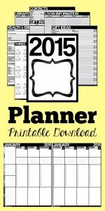 Printable 2015 Planner