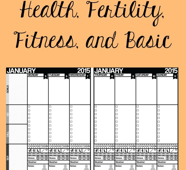 2015 Printable Planners | Fitness, Fertility, Health, & Goals