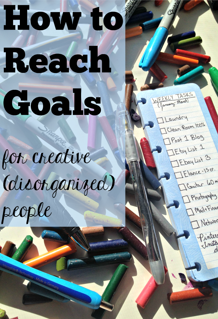 How to reach goals (for creative and disorganized people) - This unique goal-setting method might actually work for me.