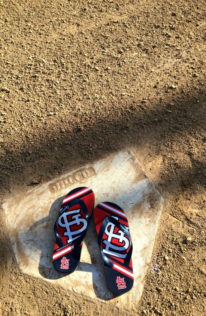 STL Cardinals Flip Flops