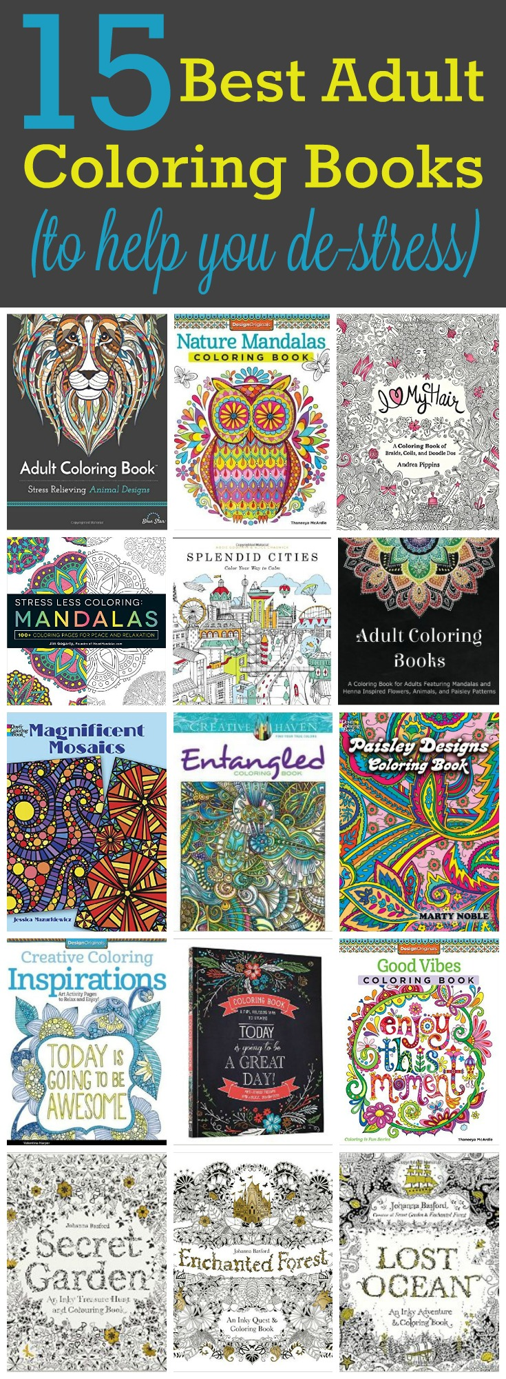 15 Best Adult Coloring Books