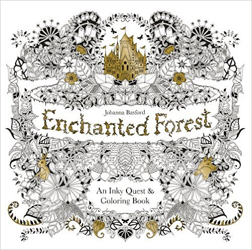 Enchanted Forest Adult Coloring Book and Story