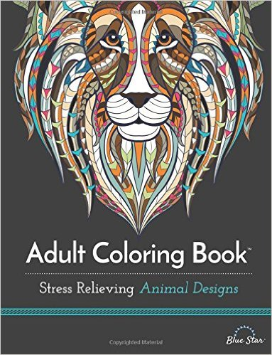 Adult Coloring Book Stress Relieving Animal Designs
