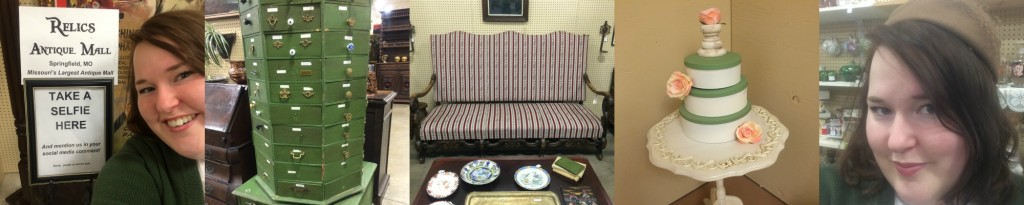 Antique furniture and treasures at Relics Antique Mall in Springfield, Missouri