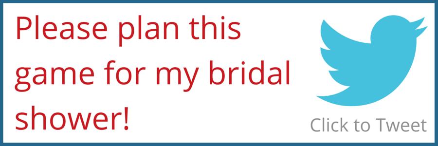 Bridal Shower Tweet
