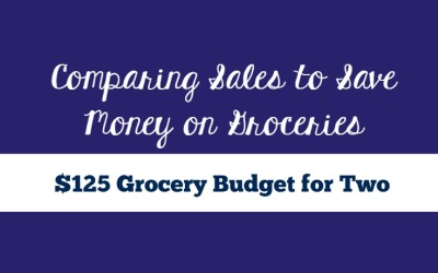 $125 Monthly Grocery Budget | Comparing Sales to Save Money on Groceries