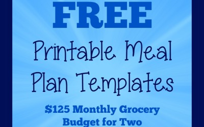 Printable Meal Plan Templates | Monthly Meal Plans