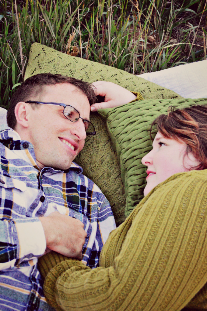 relaxed couple's photo