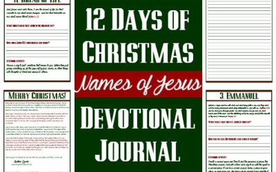 Names of Jesus – 12 Days of Christmas Devotional Journal