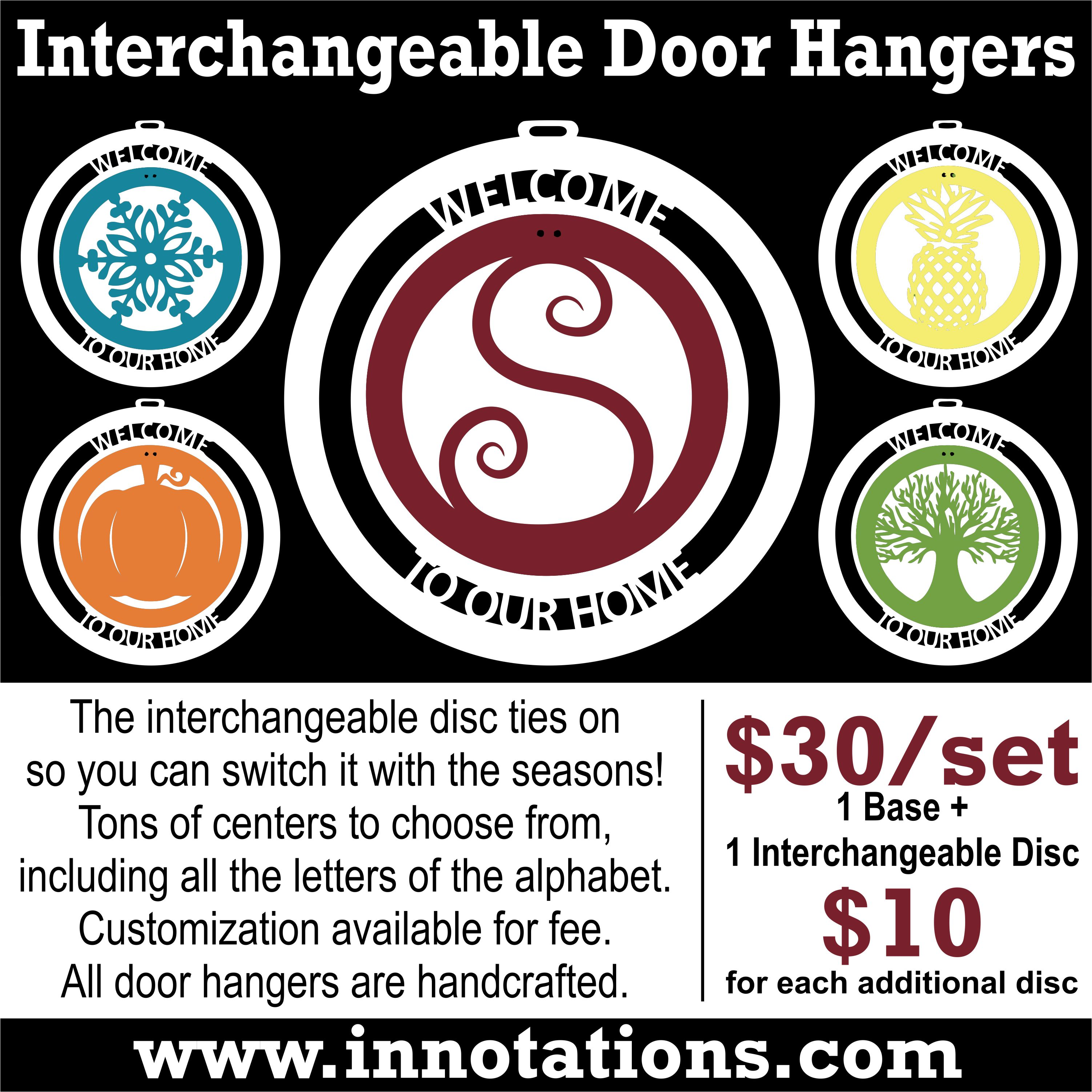 Interchangeable Door Hangers